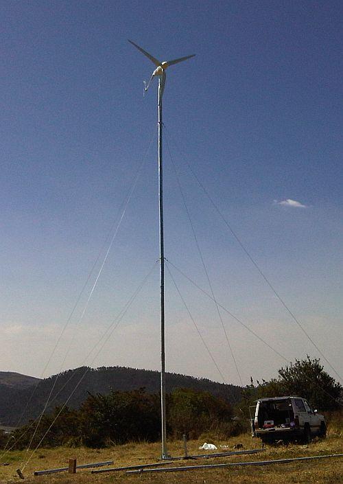 Comprar Aerogenerador de 1000W con torre de 12m