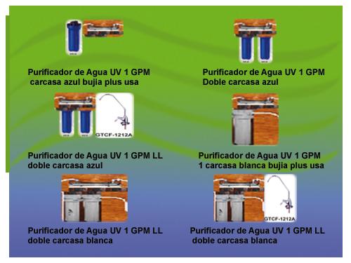 Comprar Sistemas de purificacion por UV con filtracion y microfiltracion
