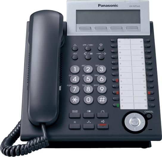 Comprar Telefono IP KX-NT343 : 3 Lineas , 24 CO, POE, LAN Panasonic
