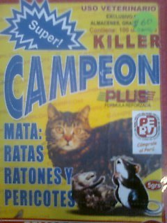 Comprar Raticida super campeon killer plus caja 100 sobres $ 50 uss