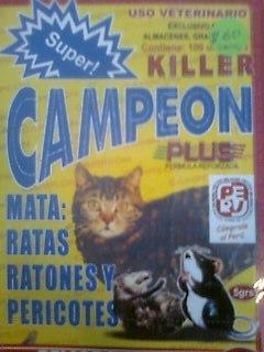 Comprar Raticida super campeon killer plus caja 100 sobres $ 50 uss