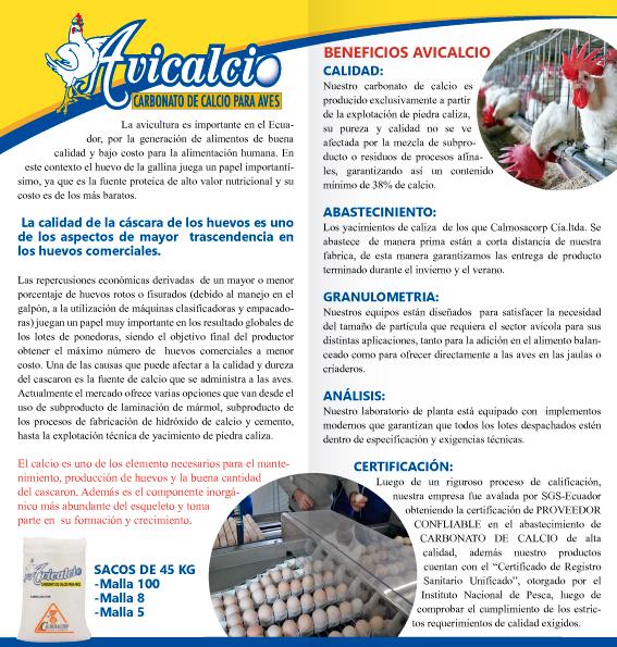 Comprar Carbonato de calcio para aves AVICALCIO