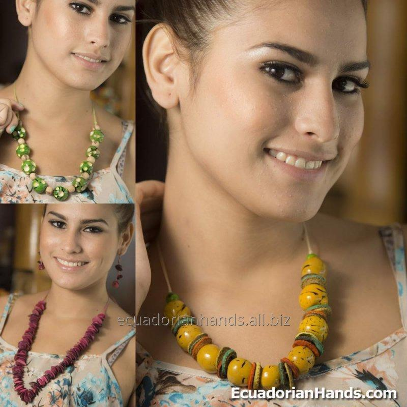 Comprar SET NECKLACE & EARRINGS (ASSORTED) WHOLESALE TAGUA JEWELRY HANDMADE ECOIVORY - JC002