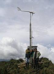 Aerogenerador de 1000W con torre de 8m