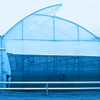 Metal carcasses for greenhouses and hangars