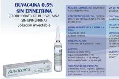 Buvacaina 0,5 % sin epinefrina
