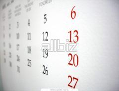 Calendarios de papel