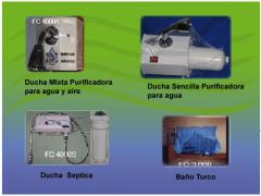 Duchas purificadoras de agua