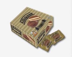 Alfajores rellenos de Manjar cubiertos de