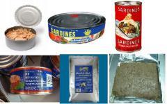 Atún y sardina en lata