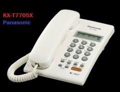 Telefono sencillo Cableado y CALL ID  KX-T7705X
