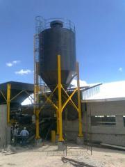 Silos para almacenamiento de cemento