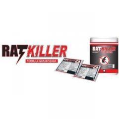 RAT KILLER Elimina ratas ratones pericotes pellet caja 20 sobres 50 gr $ 20