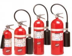 Recarga y mantenimiento de extintores de Gas Carbonico CO