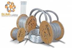 Cable tensor de acero galvanizado 1x7 3/8 grado Siemens Martin