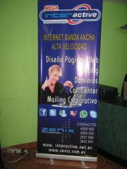 Roll up, banner impresiones todo tamaño
