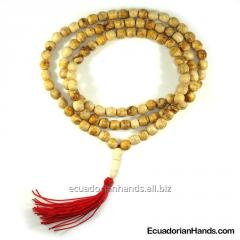 Japa Mala Necklace 108ct palo santo prayer beads