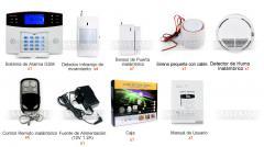 Kit de Sistema de Alarma Inalámbrica GSM SMS