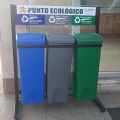 Puntos Ecologicos, tachos para reciclaje ,estación de clasificacion de desechos.