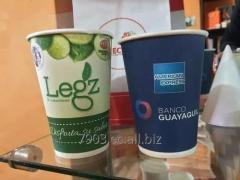 Vasos de Cartón Biodegradables - Bebidas frías o calientes