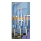 Muleta aluminio de apoyo axilar