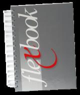 Cuaderno Abstracto azul rojo