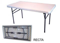 Mesas plásticas rectangulares