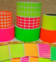 Etiquetas Multicolores / Colores Radiantes