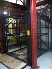 Sistemas de elevacion de carga tipo ascensor