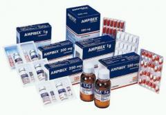 Antibiótico de amplio espectro Ampibex