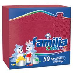 Servilletas Familia Colores x 50