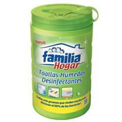 Toallas Húmedas desinfectantes Familia Hogar Pote