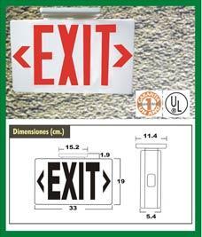 """Lámpara de Señalización """"EXIT"""""""
