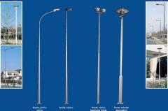 Postes de acero para señalética, iluminación,