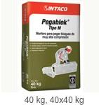 Pegablok® Tipo M  Mortero para pegar bloques de muy alta compresión