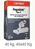 Pegablok® Tipo S  Mortero para pegar bloques de alta compresión