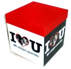 "Caja personalizada ""I Love You"""