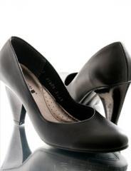 Zapato de cuero punta redonda