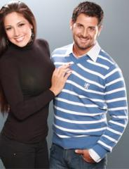 Sweater a rayas cuello en V