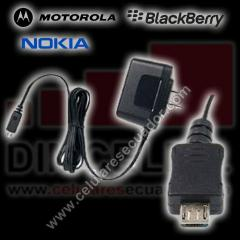 Cargador Generico V8-V9 Motorola - Blackberry -