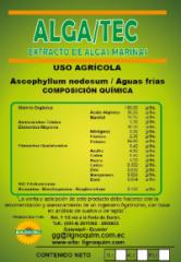 Complejo Orgánico a partir de algas marinas Alga