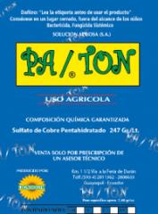 Fungicida bactericida sistémico Pa /Ton