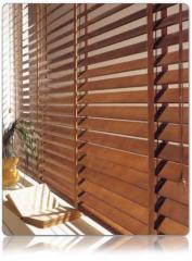 Cortinas Horizontales imitación madera