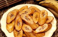 Tajadas de plátanos maduros