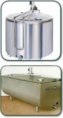 Tanques de enfriamiento de leche abiertos