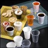 Envases desechables : vasos, tarrinas y tapas
