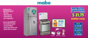 Refrigerador y Cocina Mabe (RML267WJEESO y