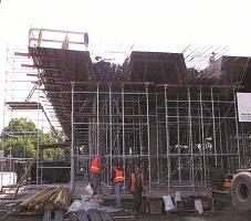 Sistema de formación para la formación de puentes