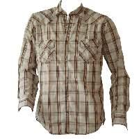 Cs-171 Camisa Para Hombre Western Large Plaids