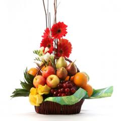 """Ramo de Frutas y Flores """"Dulce"""